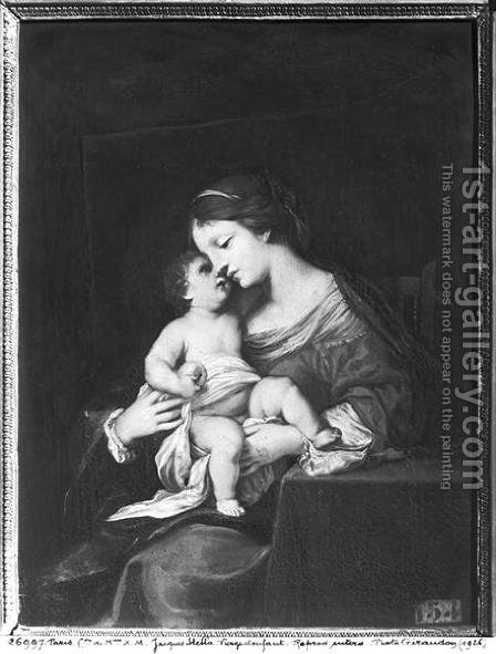 Virgin and Child by Jacques Stella - Reproduction Oil Painting
