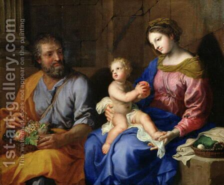 The Holy Family 2 by Jacques Stella - Reproduction Oil Painting