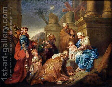 Adoration of the Magi by Jacques Stella - Reproduction Oil Painting