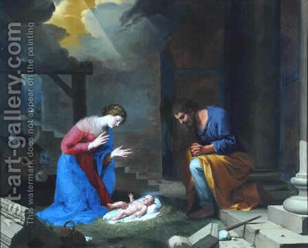 The Nativity, 1639 by Jacques Stella - Reproduction Oil Painting