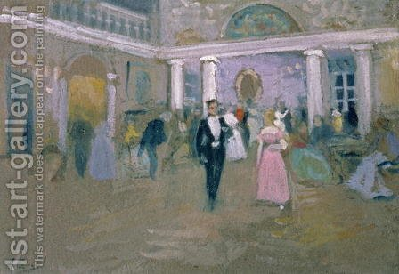 Ball at Larins, an illustration for Eugene Onegin, by Alexander Pushkin 1799-1837, 1911 by Aleksi Stepanovich Stepanov - Reproduction Oil Painting