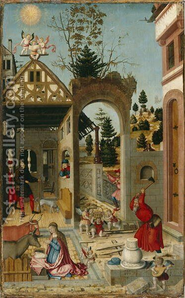 The Nativity, 1525 by (attr. to) Stetter, Wilhelm - Reproduction Oil Painting