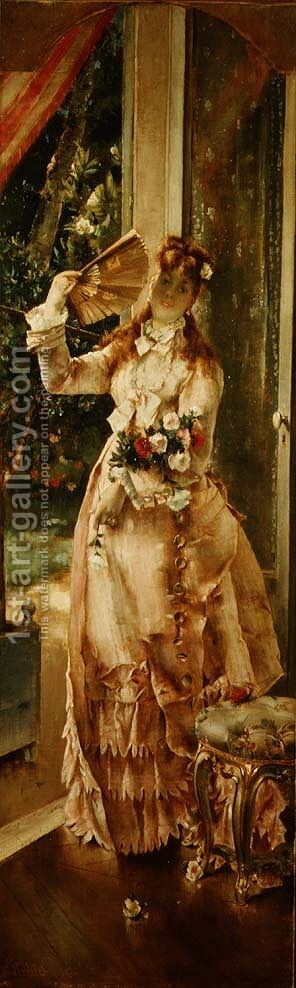 Summer by Alfred-Emile-Leopole Stevens - Reproduction Oil Painting