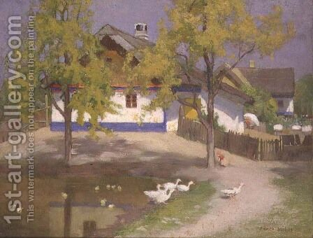 A Slav Cottage at Kalocsa, c.1905-07 by Adrian Scott Stokes - Reproduction Oil Painting
