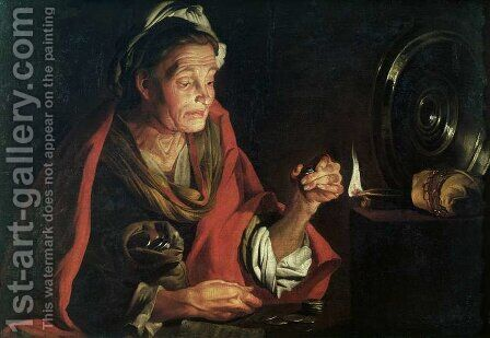 Avarice by Matthias Stomer - Reproduction Oil Painting