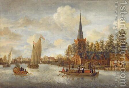Canal view in Amsterdam by Jacobus Storck - Reproduction Oil Painting