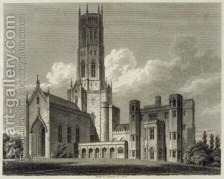 South-east view of Fonthill Abbey, 1812 by James Storer - Reproduction Oil Painting