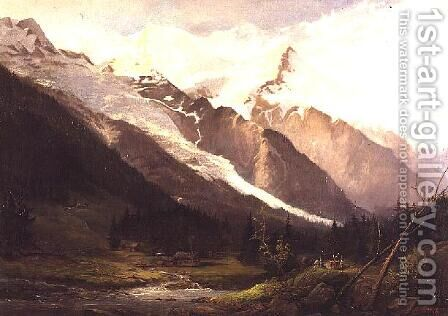 Near Chamonix by Howard Gull Stormont - Reproduction Oil Painting