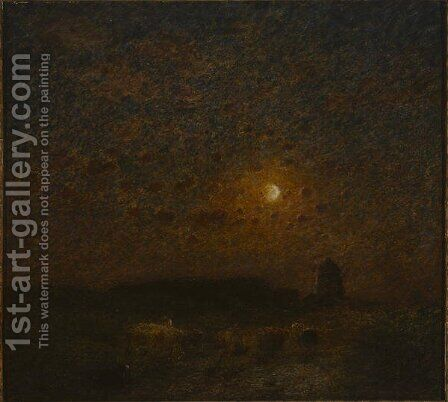 Where the Dark Earth Sleeping Lies, 1908 by Edward Stott - Reproduction Oil Painting