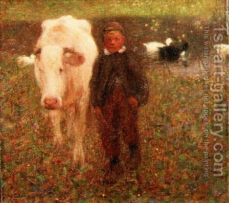 The White Cow by Edward Stott - Reproduction Oil Painting