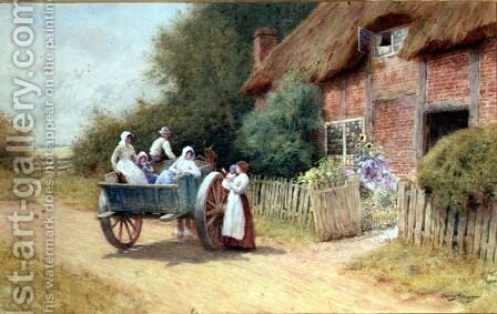 Farewell by Arthur Claude Strachan - Reproduction Oil Painting