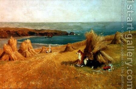 On the Coast by Arthur Claude Strachan - Reproduction Oil Painting