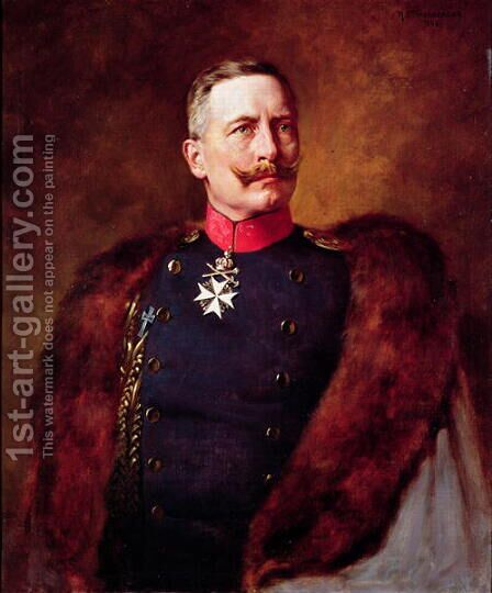 Portrait of Kaiser Wilhelm II 1859-1941 by Bruno Heinrich Strassberger - Reproduction Oil Painting