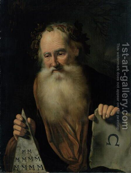The Philosopher, 1686 by Hinrich Stravius - Reproduction Oil Painting