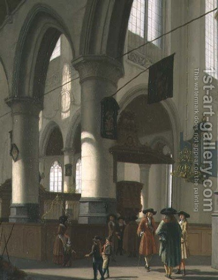A Church Interior by Hendrick van Streeck - Reproduction Oil Painting