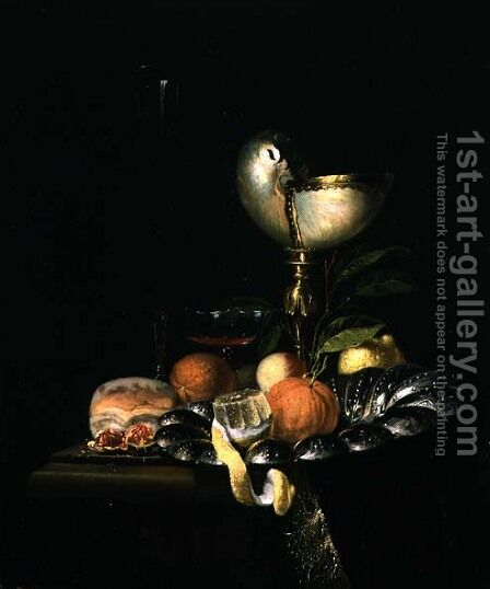 Still Life with Fruit and a Nautilus Cup by Hendrick van Streeck - Reproduction Oil Painting