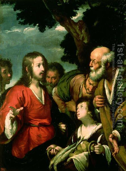 The Miracle of the Loaves and Fishes by Bernardo Strozzi - Reproduction Oil Painting