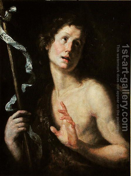 St. John the Baptist by Bernardo Strozzi - Reproduction Oil Painting