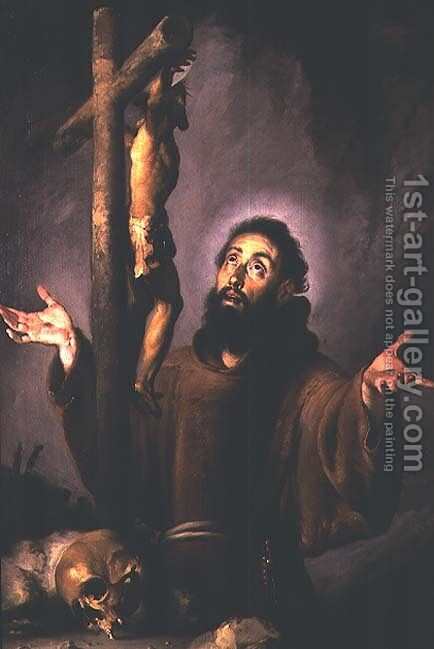 St. Francis by Bernardo Strozzi - Reproduction Oil Painting
