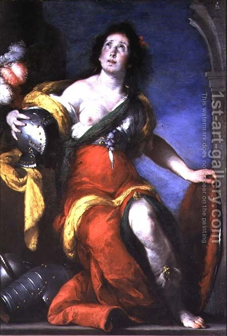 Minerva by Bernardo Strozzi - Reproduction Oil Painting