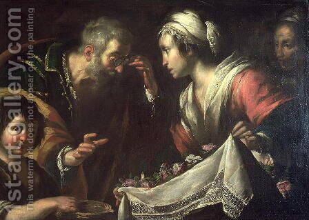 The Miracle of St. Zita by Bernardo Strozzi - Reproduction Oil Painting