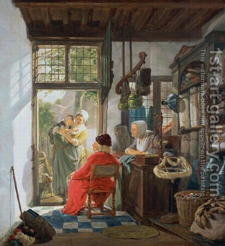 The Cloth Shop by Jacob Van Stry - Reproduction Oil Painting