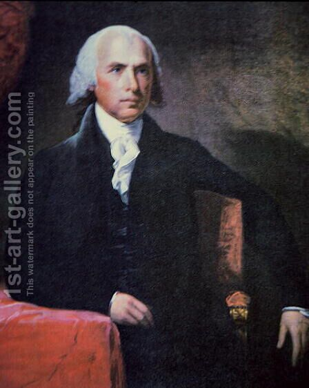 James Madison 1751-1836 by Charles Gilbert Stuart - Reproduction Oil Painting