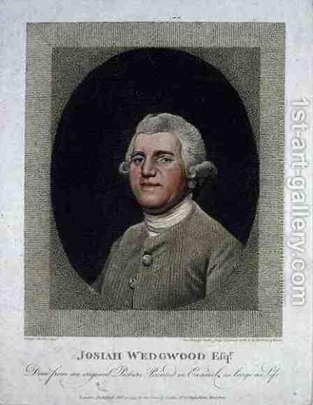 Josiah Wedgwood 1730-95, engraved and pub. by George Townley Stubbs 1756-1815, 1795 by (after) Stubbs, George - Reproduction Oil Painting