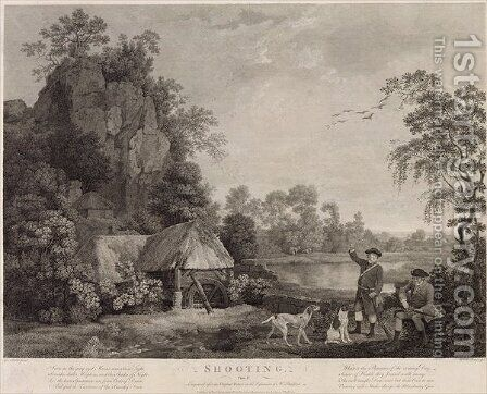 Shooting, plate 1, engraved by William Woollett 1735-85 1769 by (after) Stubbs, George - Reproduction Oil Painting