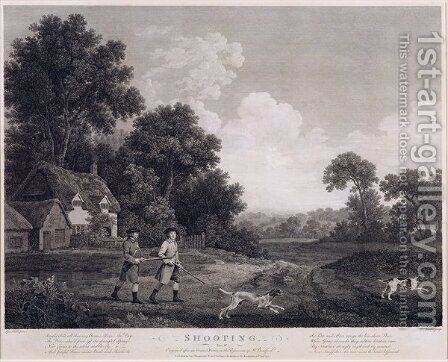 Shooting, plate 2, engraved by William Woollett 1735-85 1770 by (after) Stubbs, George - Reproduction Oil Painting