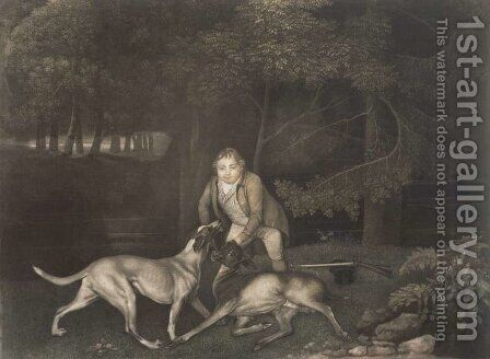 Freeman, Keeper to the Earl of Clarendon, with a hound and a wounded doe, 1804 by (after) Stubbs, George - Reproduction Oil Painting