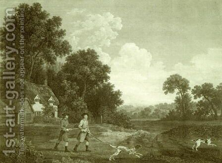 Two Gentlemen Going a Shooting, Plate 2 by (after) Stubbs, George - Reproduction Oil Painting