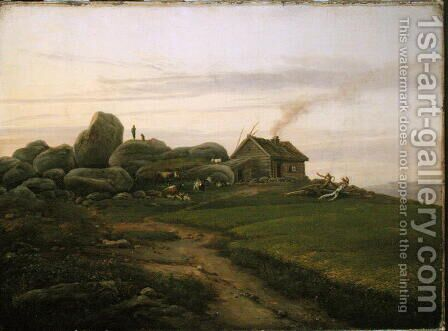 Hill Top, 1827 by Heinrich Stuhlmann - Reproduction Oil Painting