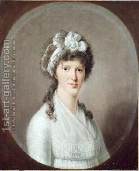 Portrait of a Young Woman, 1799 by Christoph Suhr - Reproduction Oil Painting