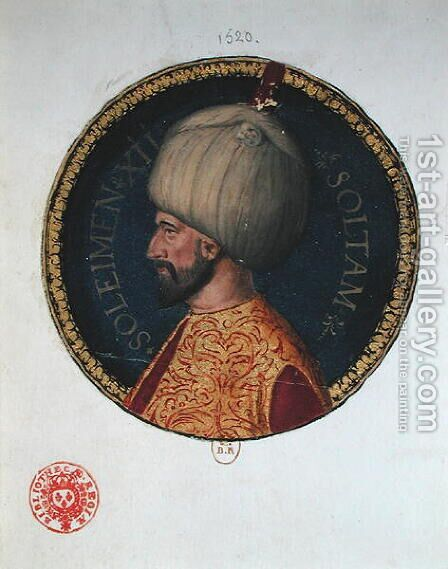 Suleiman I 1494-1566 called the Magnificent by I the Magnificent Suleyman - Reproduction Oil Painting