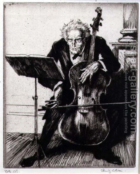 Cello Solo by Edmund Joseph Sullivan - Reproduction Oil Painting