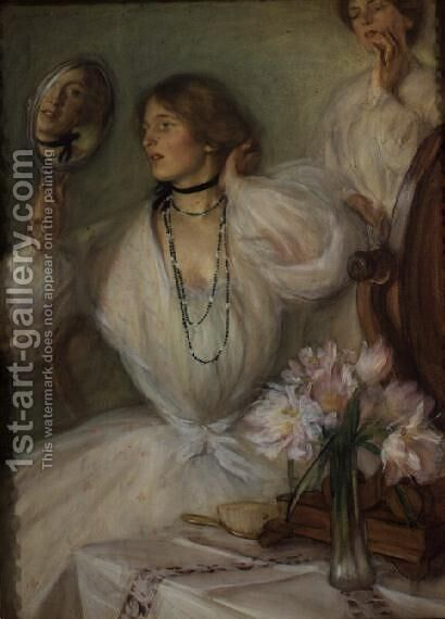 Lady Flora by Edmund Joseph Sullivan - Reproduction Oil Painting