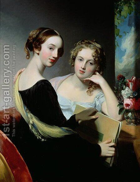 Portrait of the McEuen sisters, after 1823 by (after) Sully, Thomas - Reproduction Oil Painting