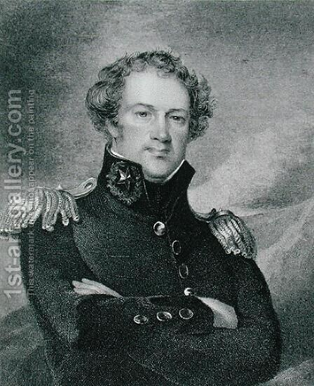 Major General Alexander Macomb 1782-1842, engraved by James Barton Longacre 1794-1869 by (after) Sully, Thomas - Reproduction Oil Painting