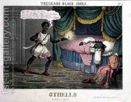 Othello, from Tregears Black Jokes, by Hunt, published by T.S. Tregear, London, 1834 by (after) Summers, W. - Reproduction Oil Painting