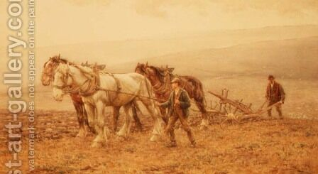 The Ploughman by Harold Swanwick - Reproduction Oil Painting