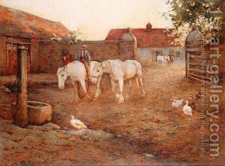 Evening after a Hot Day, 1896 by Harold Swanwick - Reproduction Oil Painting