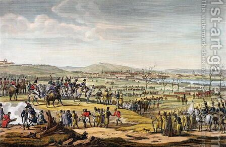 The Capture of Ulm, 17 October 1805, engraved by Louis Francois Couche 1782-1849 by (after) Swebach, Jacques Francois Joseph - Reproduction Oil Painting