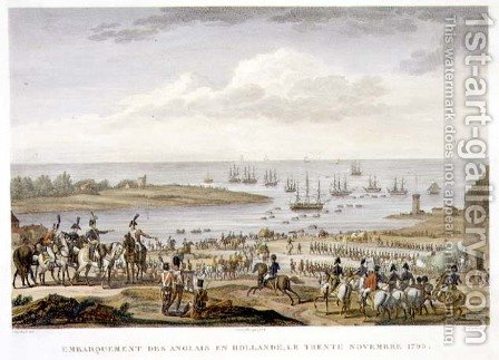 The Embarkation of the English in Holland, 30 November 1799, engraved by Louis Francois Couche 1782-1849 by (after) Swebach, Jacques Francois Joseph - Reproduction Oil Painting
