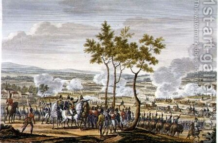 The Battle of Abensberg, 20 April 1809, engraved by Edme Bovinet 1767-1832 by (after) Swebach, Jacques Francois Joseph - Reproduction Oil Painting