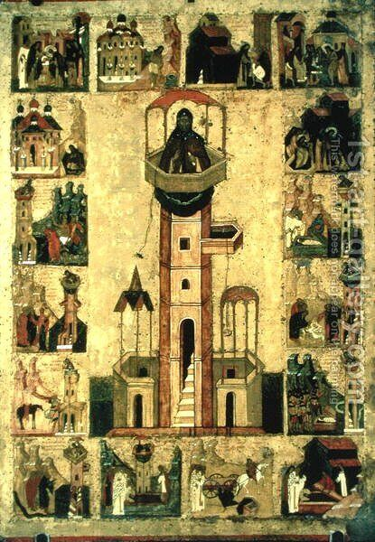 St. Simeon, 16th century by Anonymous Artist - Reproduction Oil Painting