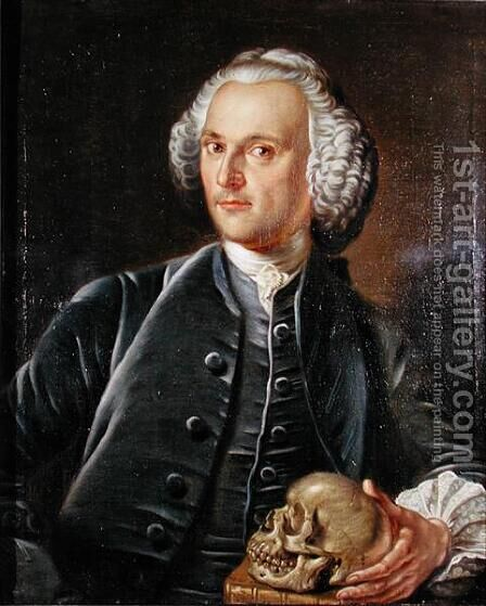 Portrait of Dr William Barrett, 1764 by Jan van Rymsdyk - Reproduction Oil Painting