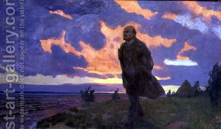 Vladimir Ilyich Lenin 1870-1924 on the Shore, 1934 by Arkadij Aleksandrovic Rylov - Reproduction Oil Painting