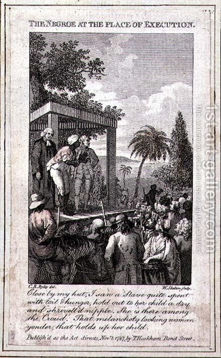 The Negroe at the Place of Execution, engraved by William Skelton, 1787 by (after) Ryley, Charles Reuben - Reproduction Oil Painting
