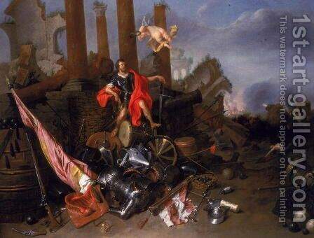 An Allegory of War with Vincenzo Gonzaga I by David The Younger Ryckaert - Reproduction Oil Painting